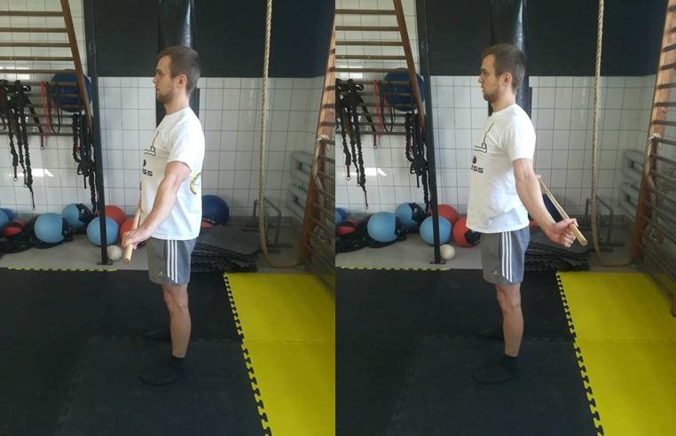 Sposób wykonania rozciągania z ćwiczenia nr 3