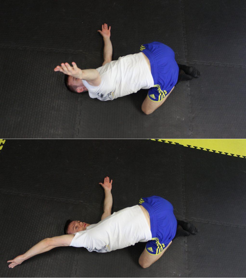 Sposób wykonania ćwiczenia nr 3 Mobilność odcinka piersiowego