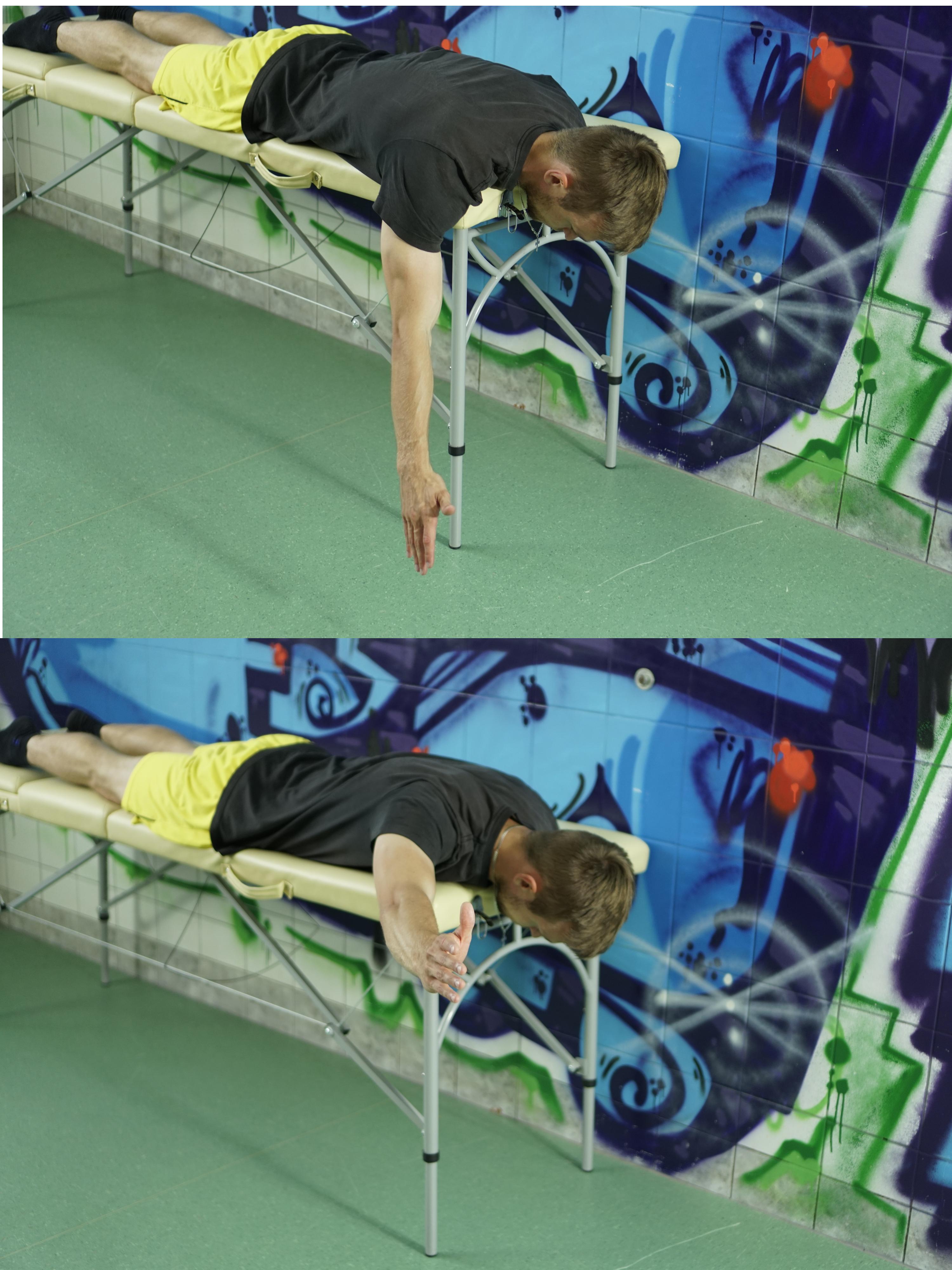 Sposób wykonania ćwiczenia nr 6. Pogłębiona kifoza piersiowa